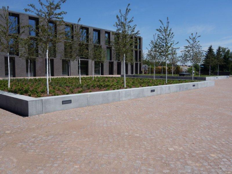 Hochschule Mittweida, Außenanlagen Medienzentrum